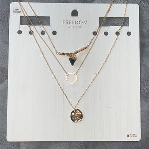 topshop layered necklace